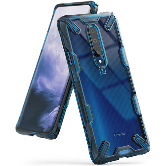 Ringke Fusion-X Designed for OnePlus 7 Pro Case space blue