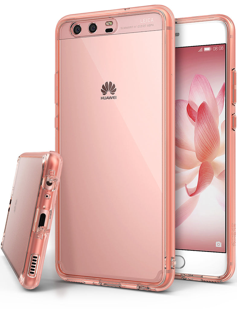 huawei p10 case ringke fusion case crystal clear pc back tpu bumper case rose gold crystal