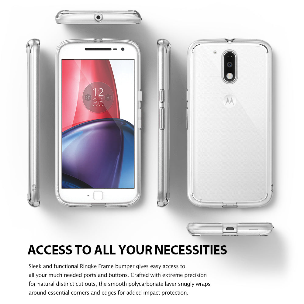 ringke fusion clear transparent hard back cover case for moto g4 and g4 plus main access to all ports