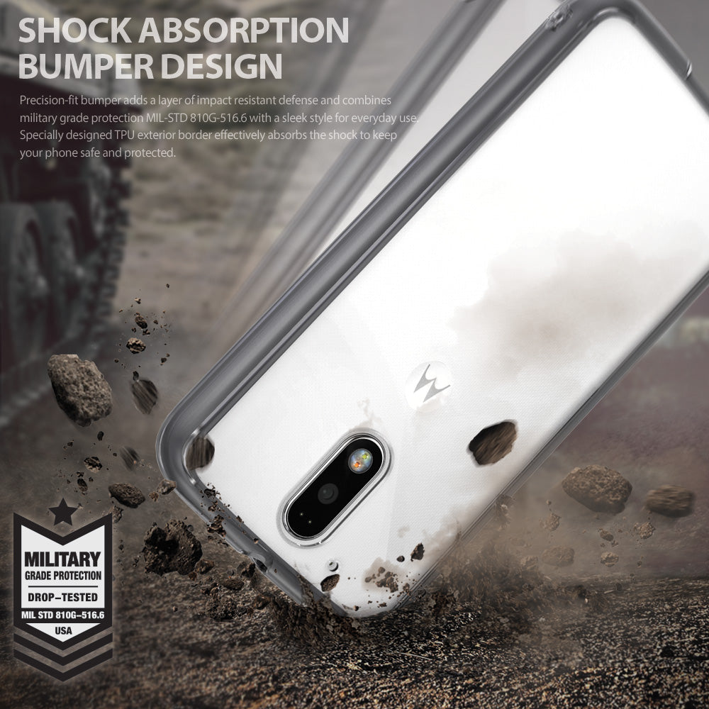 ringke fusion clear transparent hard back cover case for moto g4 and g4 plus main shockproof protection