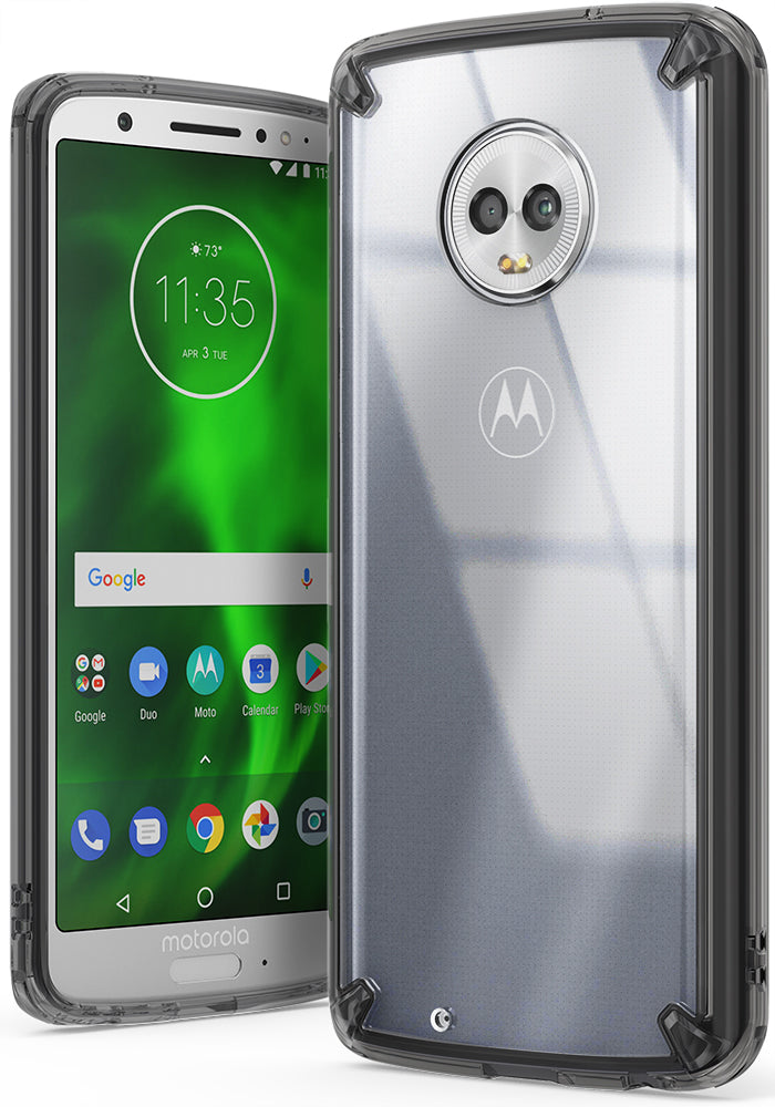 moto g6 fusion case smoke black