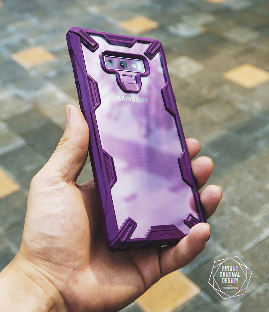 ringke fusion-x case designed for samsung galaxy note 9 lilac purple