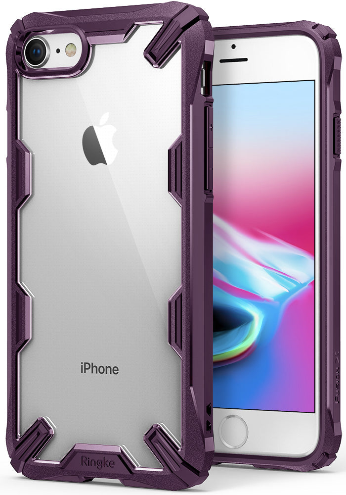 ringke fusion-x advanced bumper heavy duty protective case cover for iphone 7 8 main lilac purple