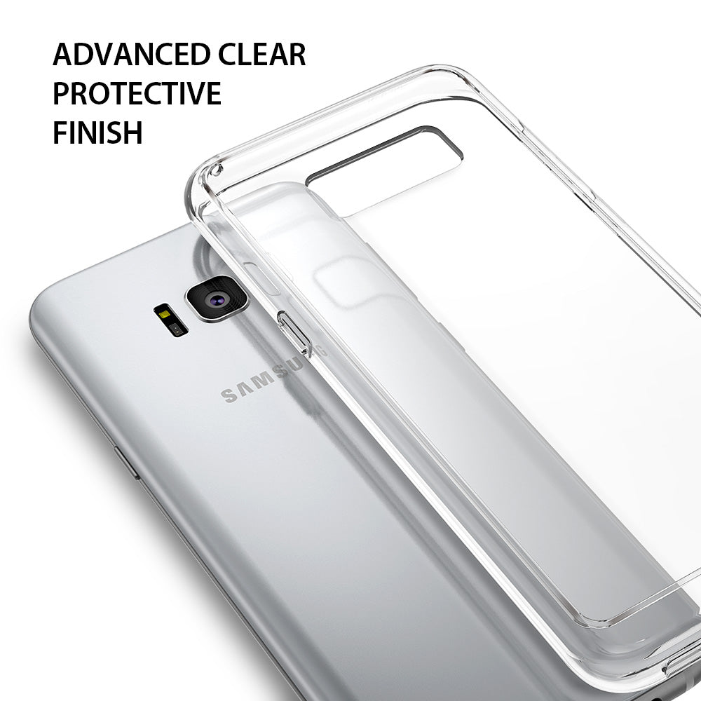 ringke fusion clear transparent hard back cover case for galaxy s8 plus clear finish