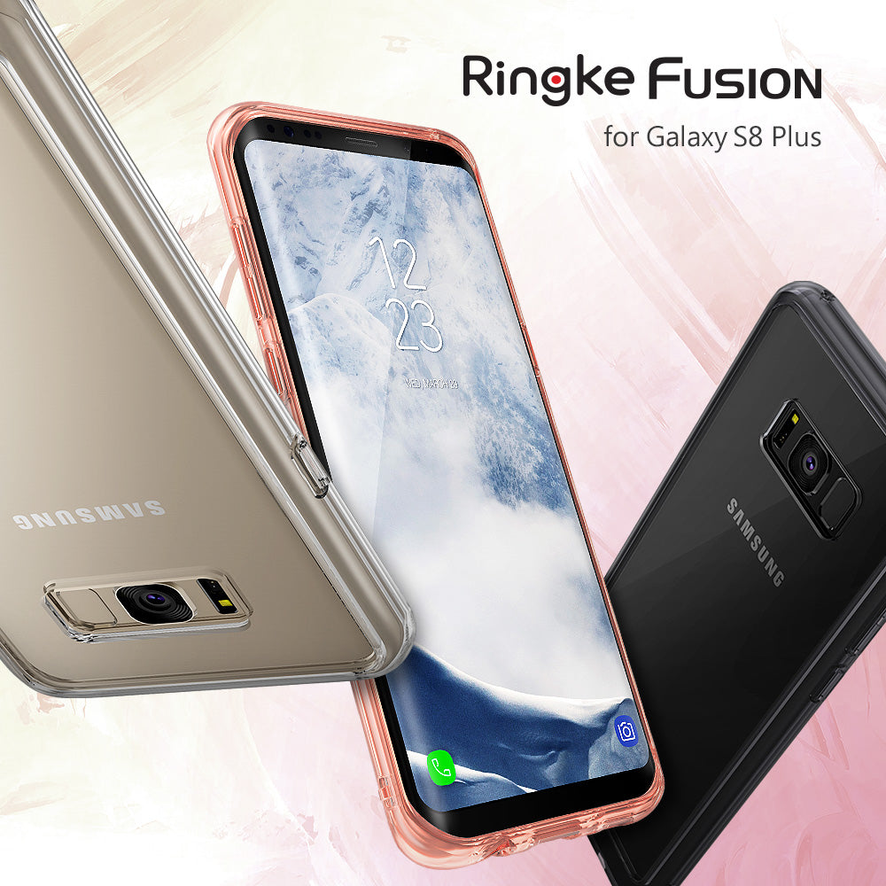ringke fusion clear transparent hard back cover case for galaxy s8 plus