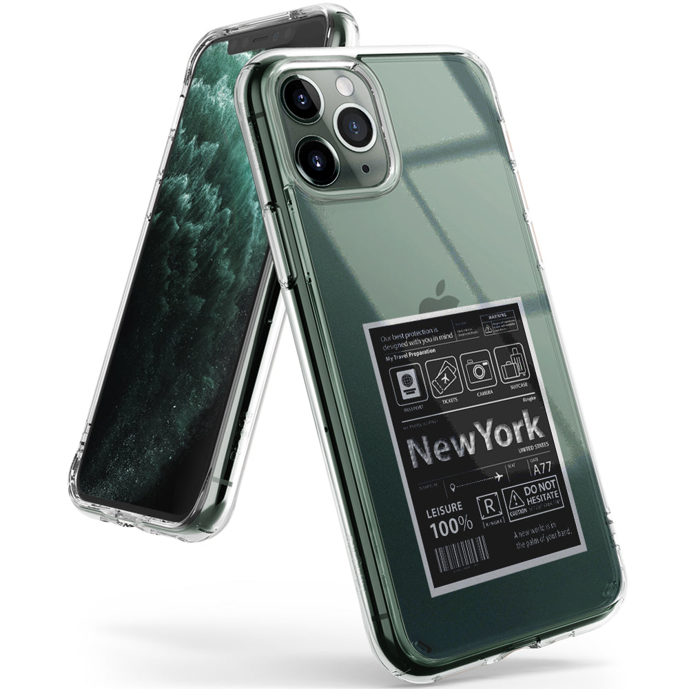apple iphone 11 pro max case ringke fusion design cover -  new york label