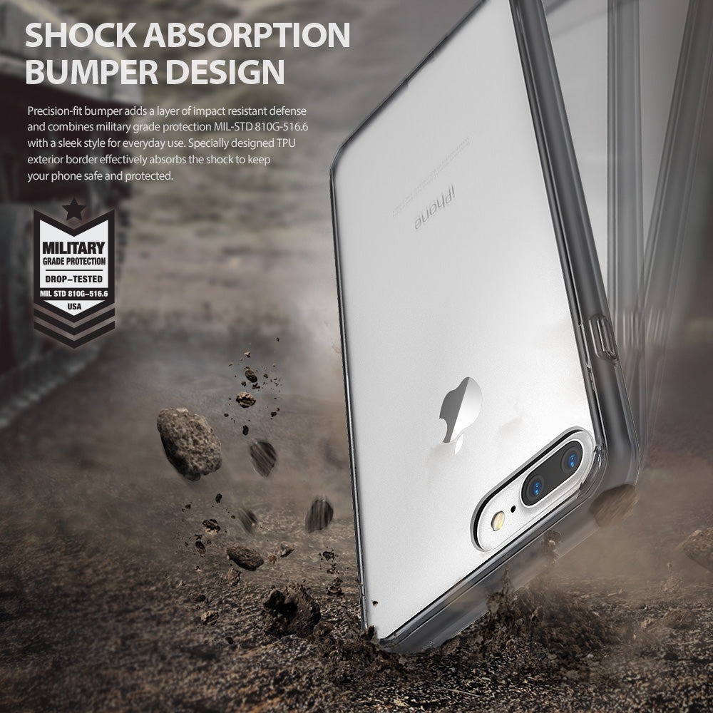ringke fusion clear transparent case cover for iphone 7 plus 8 plus main shockproof protection