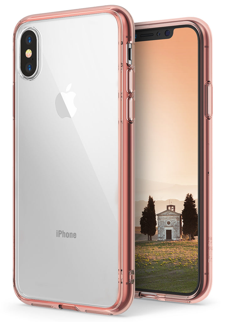 ringke fusion for iphone x case cover main rose gold