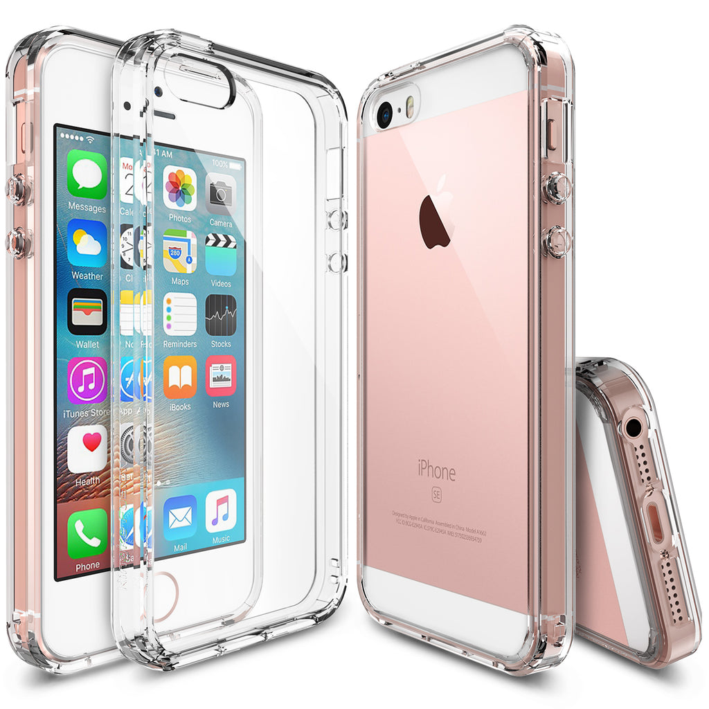 ringke fusion transparent clear back case cover for iphone se 5s 5 main clear