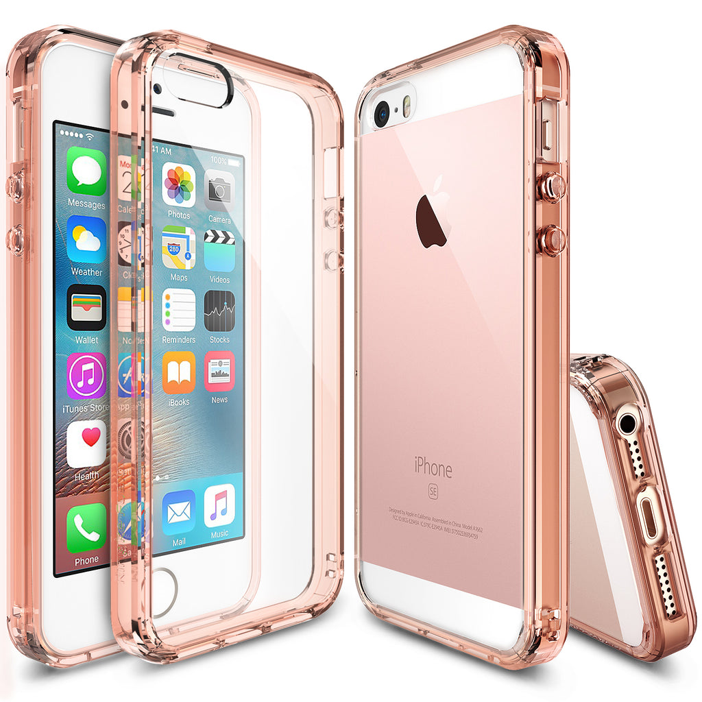 ringke fusion transparent clear back case cover for iphone se 5s 5 main rose gold