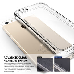 iPhone SE / 5S / 5 Case, Ringke® [FUSION] Crystal Clear PC Back TPU Bumper Case