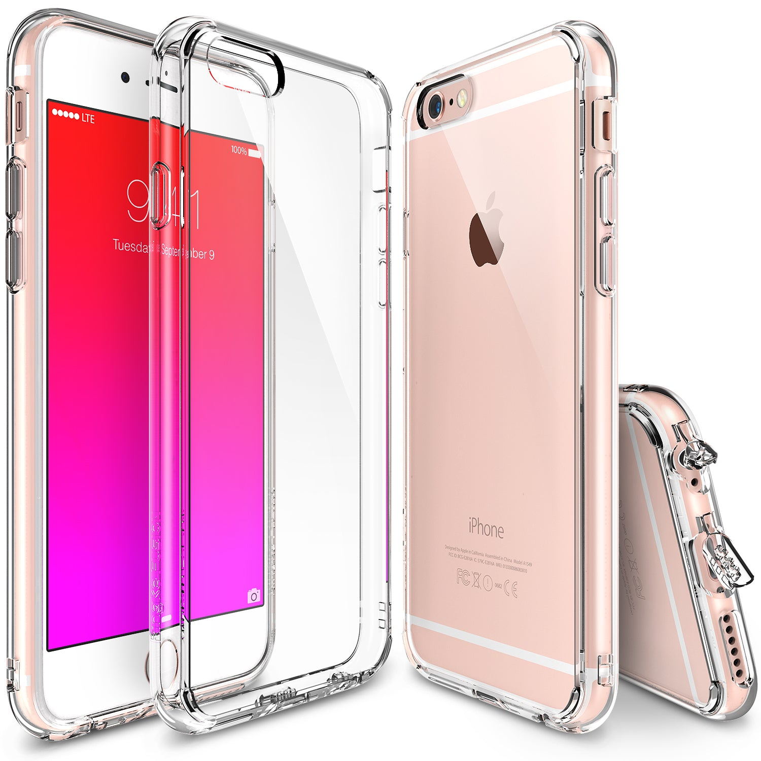 iPhone 6S Plus Clear Cover with Ring