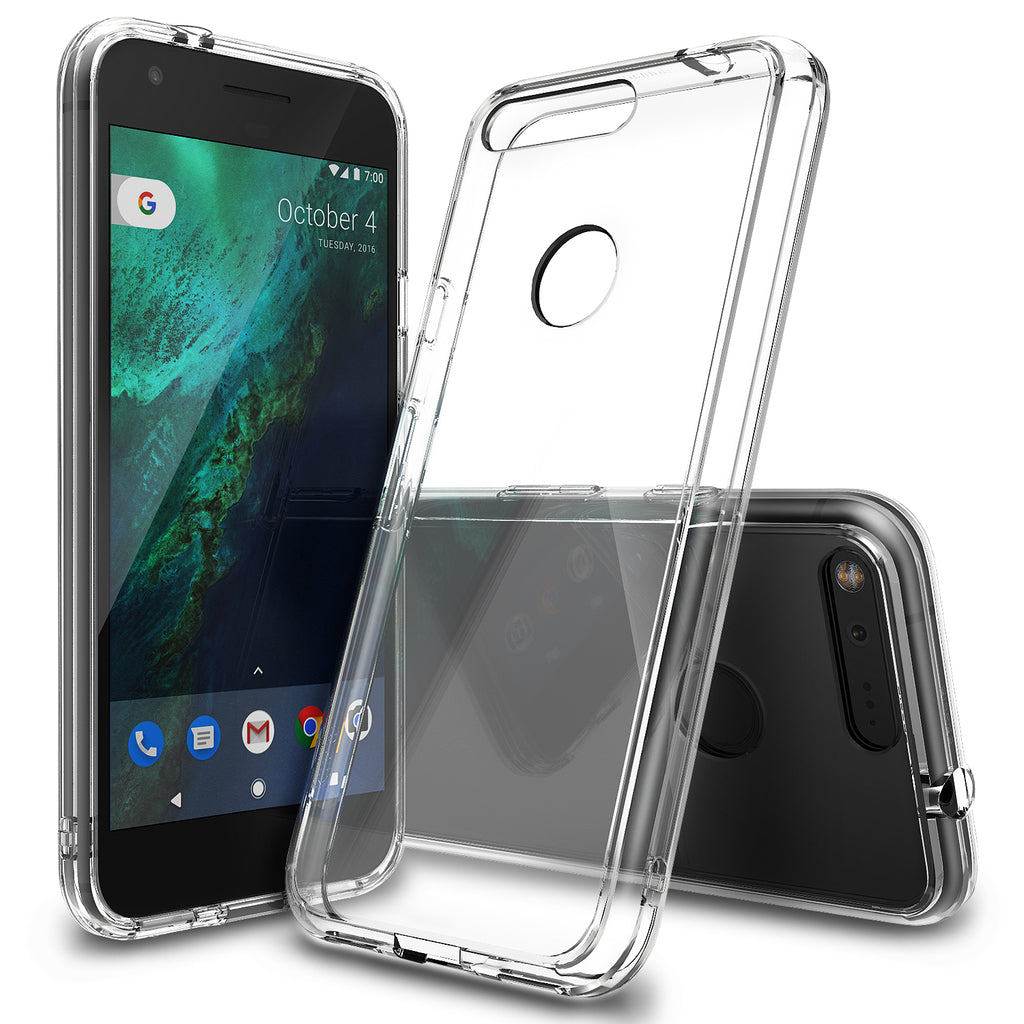 ringke fusion clear transparent hard back case cover for google pixel main smoke black