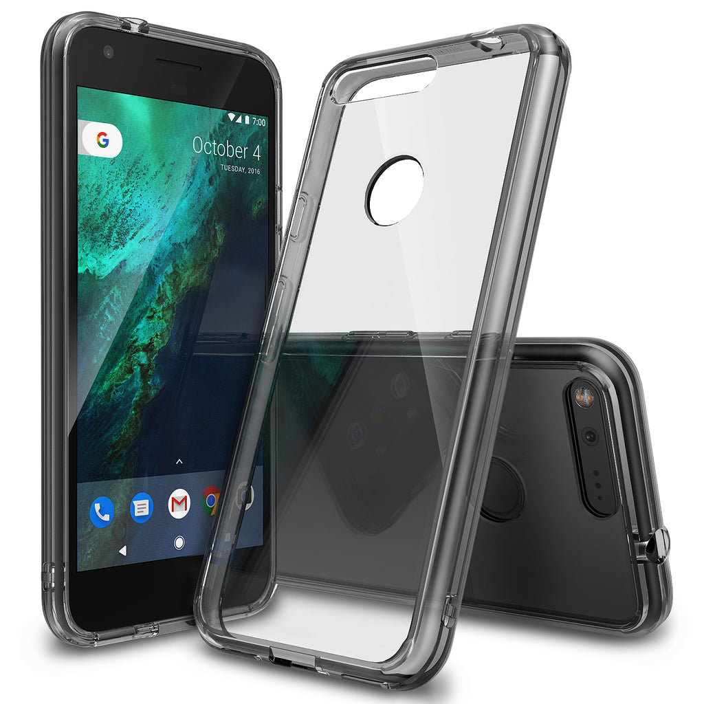 ringke fusion clear transparent hard back case cover for google pixel xl main smoke black