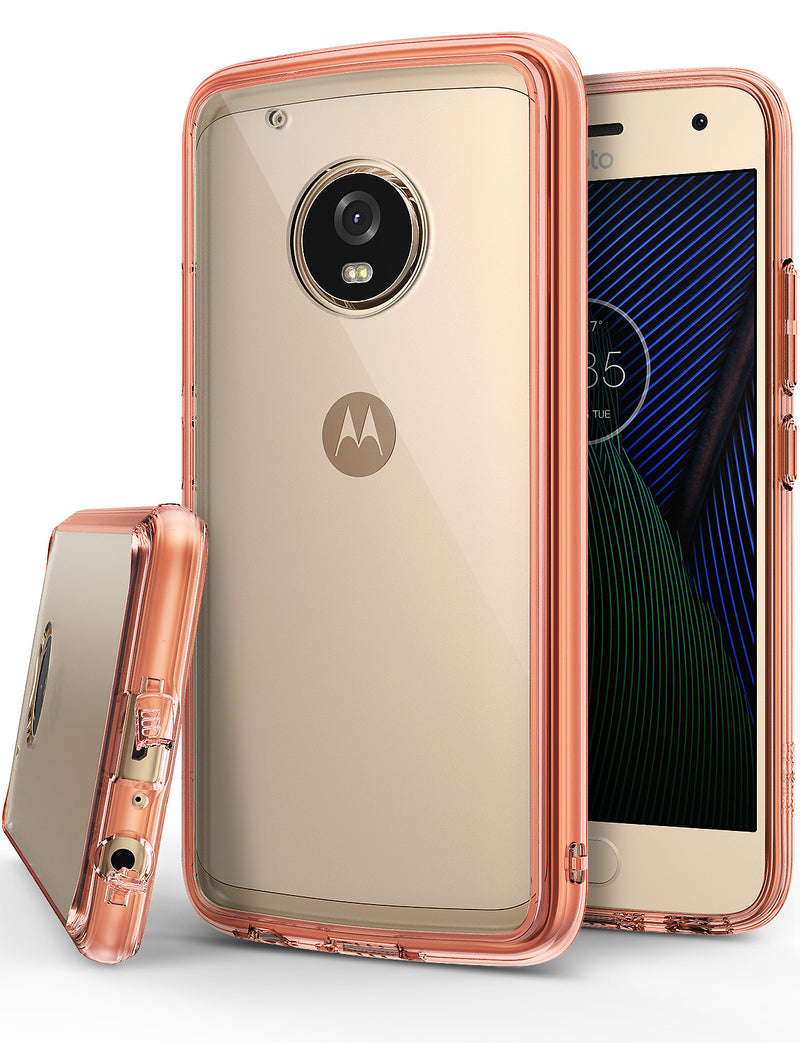 Motorola Moto G5 Plus Case, Ringke® [FUSION] Crystal Clear PC Back TPU Bumper Case