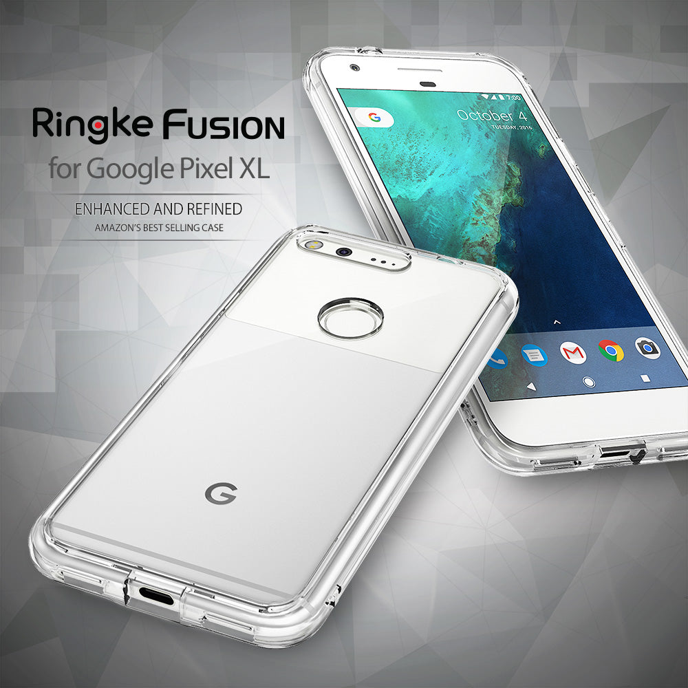 ringke fusion clear transparent hard back case cover for google pixel xl main