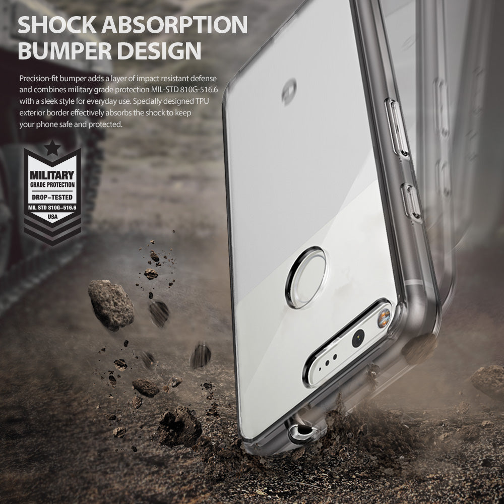 ringke fusion clear transparent hard back case cover for google pixel main shockproof protection