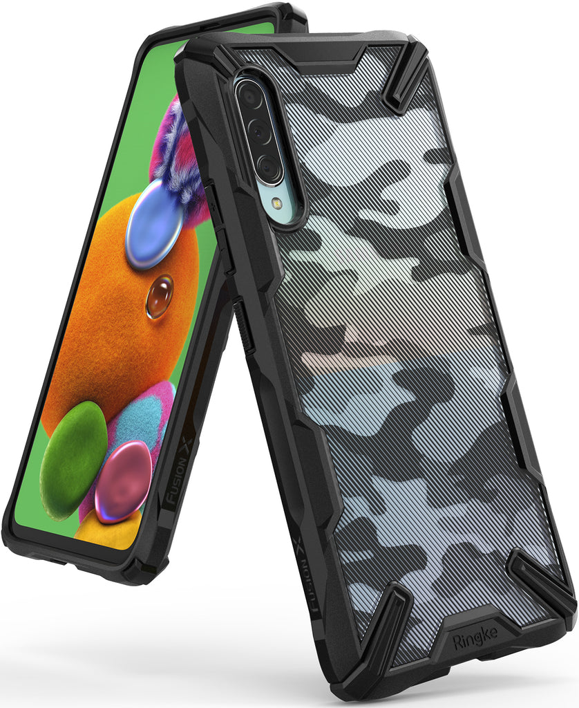 ringke fusion-x for galaxy a90 5g case camo black