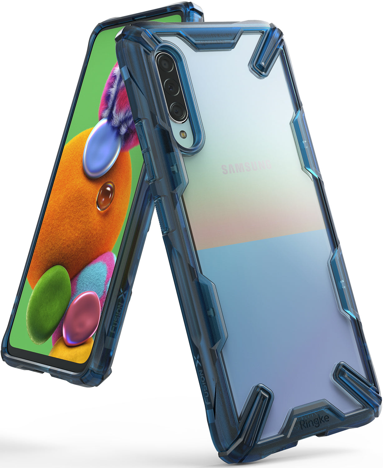 ringke fusion-x for galaxy a90 5g case space blue