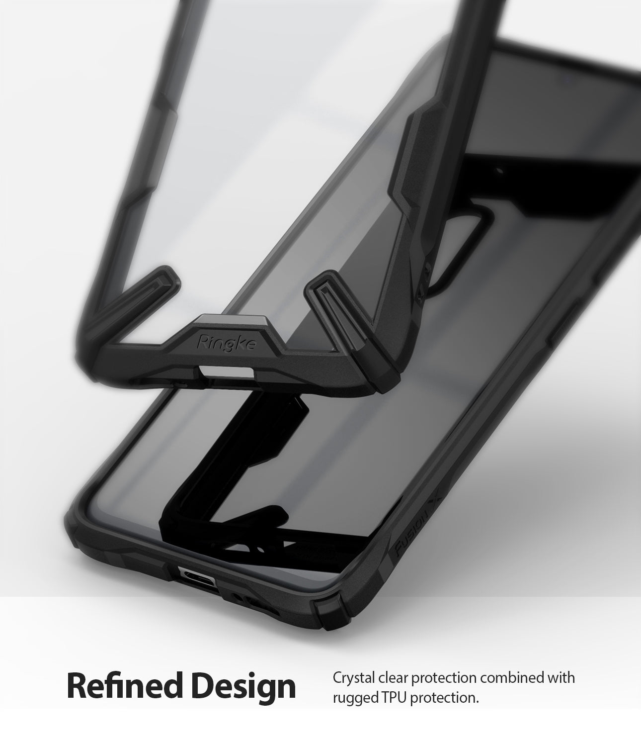 crystal clear protection combined with rugged tpu bumper