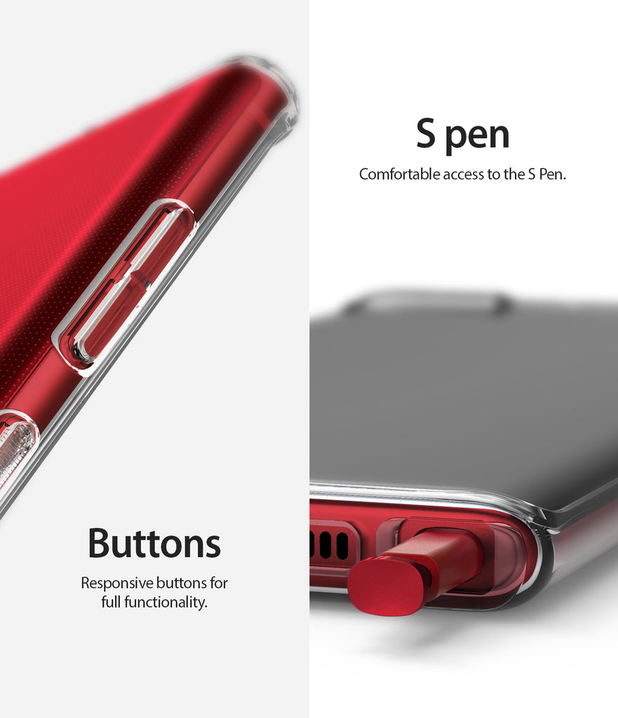 s pen accessibility with precise button cutouts