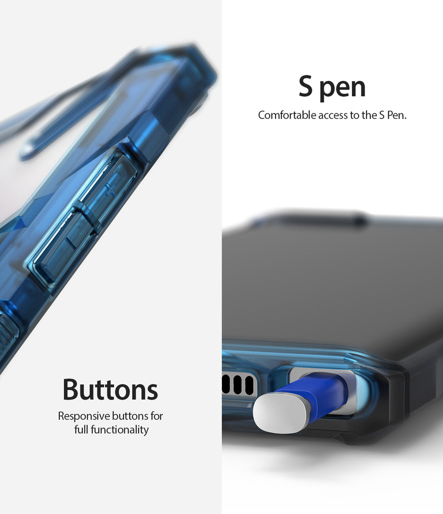 comfortable s pen aceess with precise button cutouts