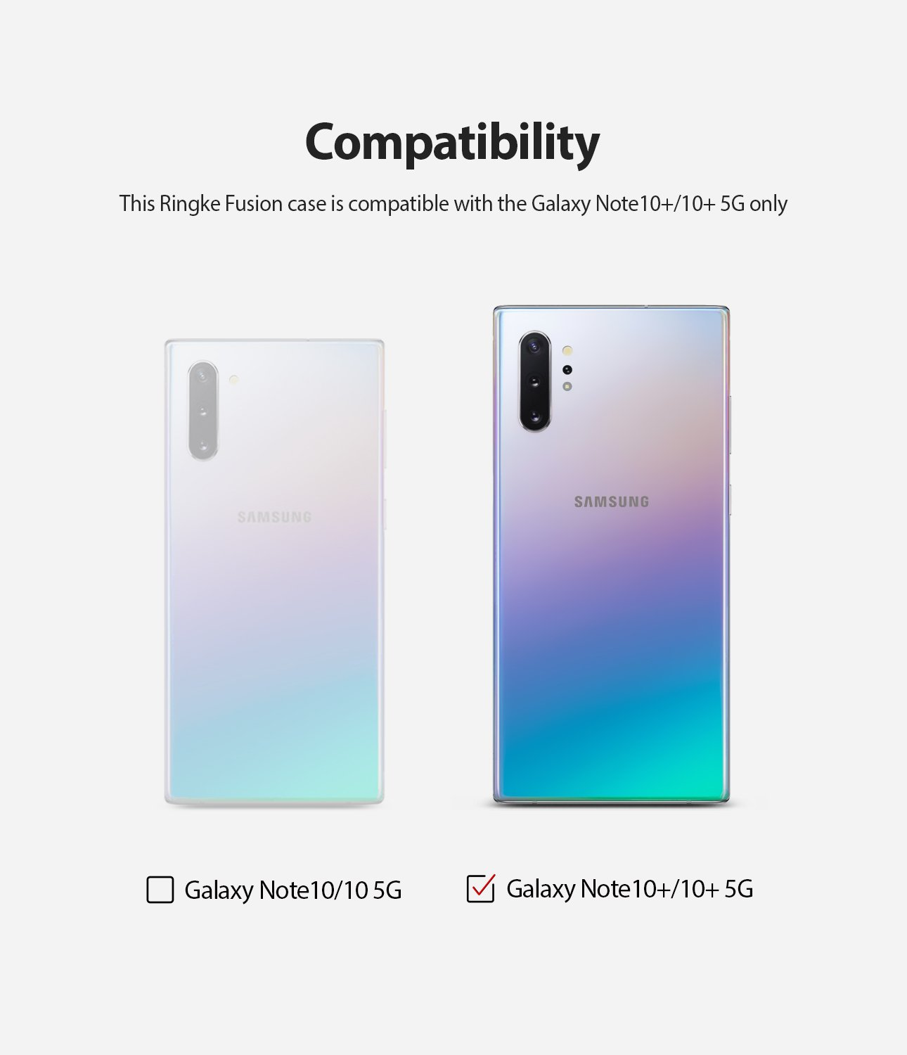 only compatible with galaxy note10+ LTE / 5G