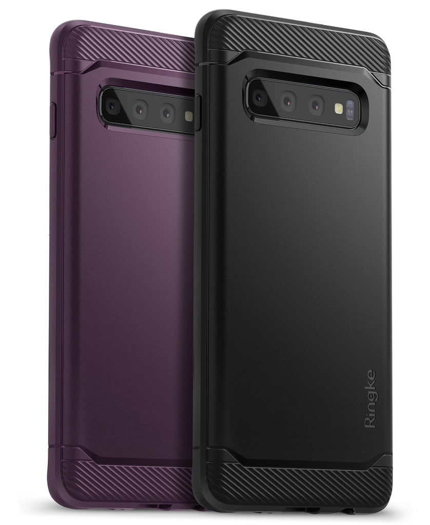 ringke onyx black and lilac purple compatible with samsung galaxy s10