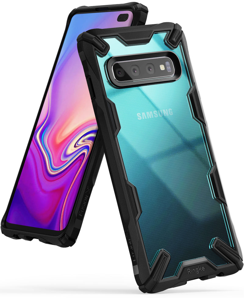 galaxy s10 fusion-x case black