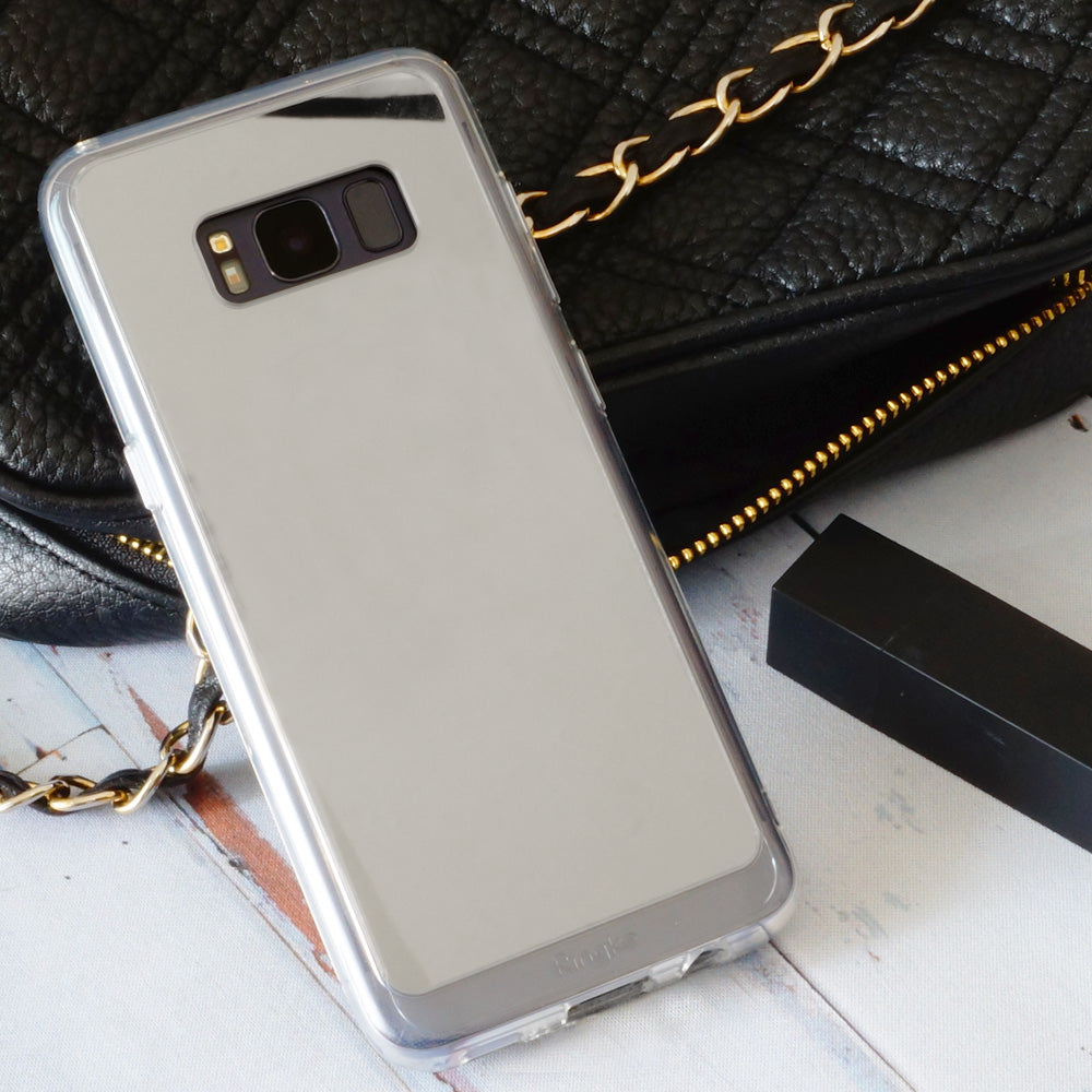 ringke mirror back cover case for galaxy s8 plus silver