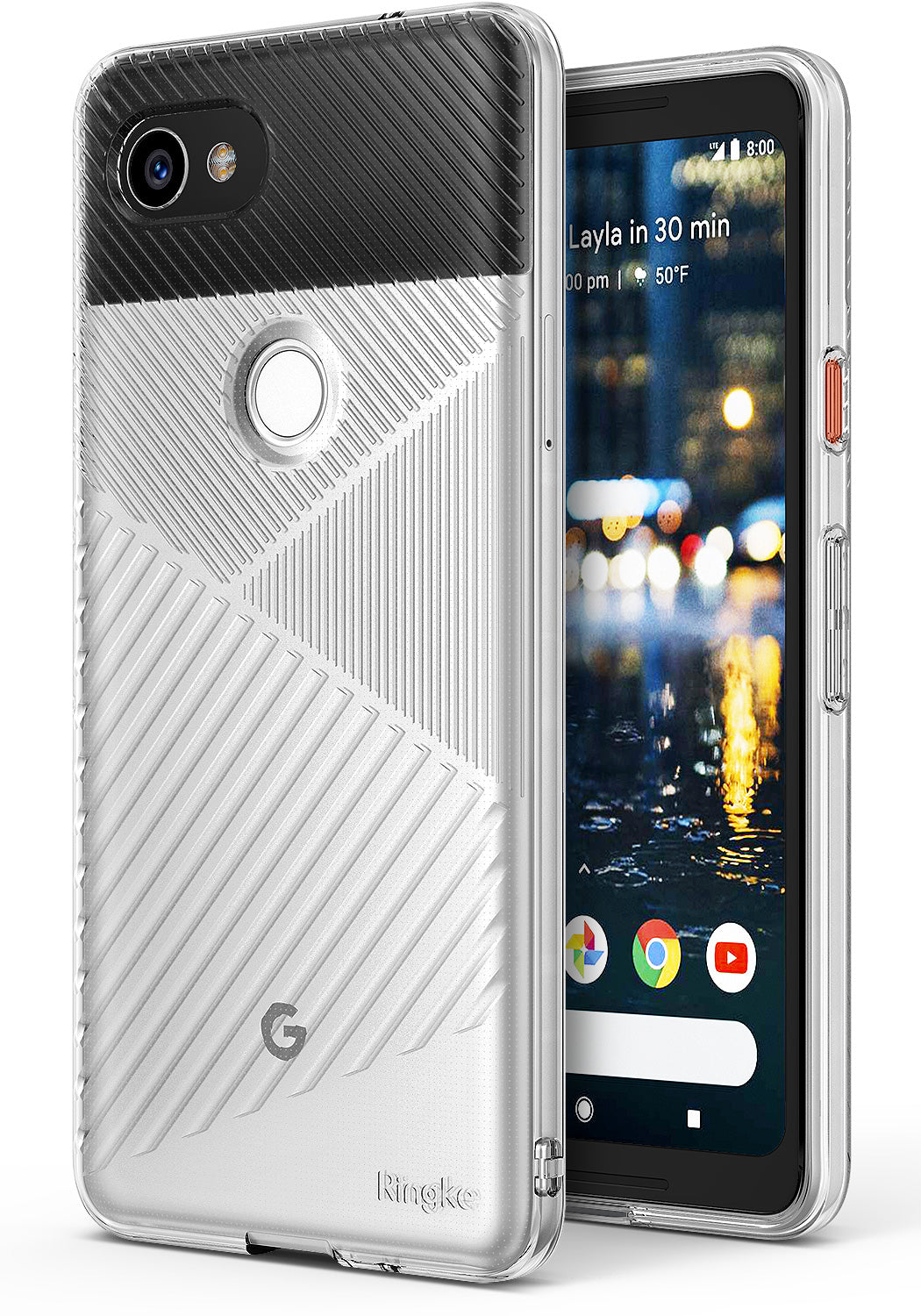 ringke bevel designed thin lightweight tpu case cover for google pixel 2 xl main clear