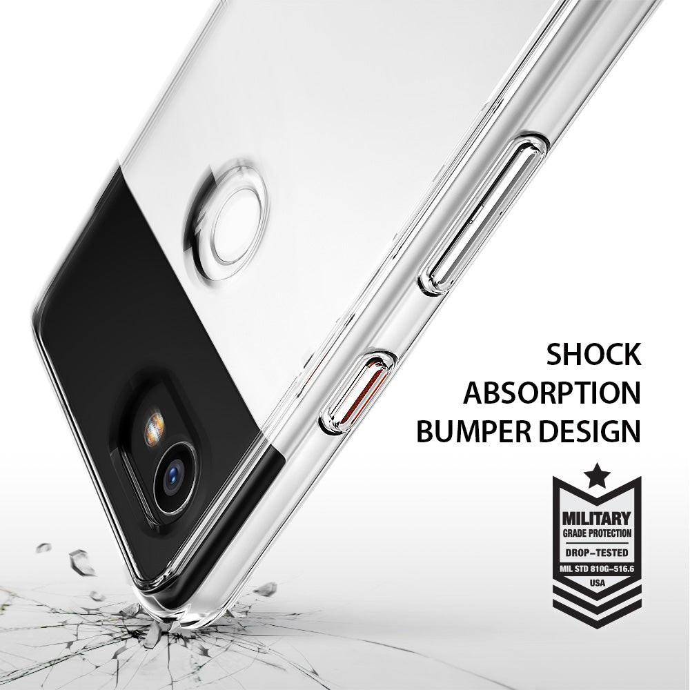 ringke fusion clear transparent hard back case cover for google pixel 2 xl main shockproof protection