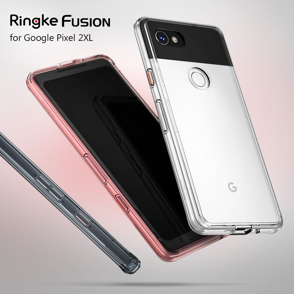 ringke fusion clear transparent hard back case cover for google pixel 2 xl main