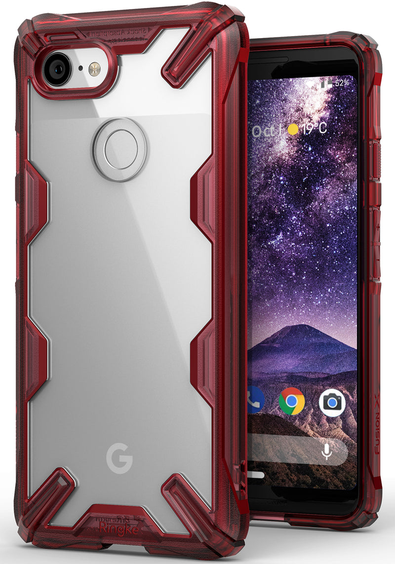 google pixel 3 fusion-x case red