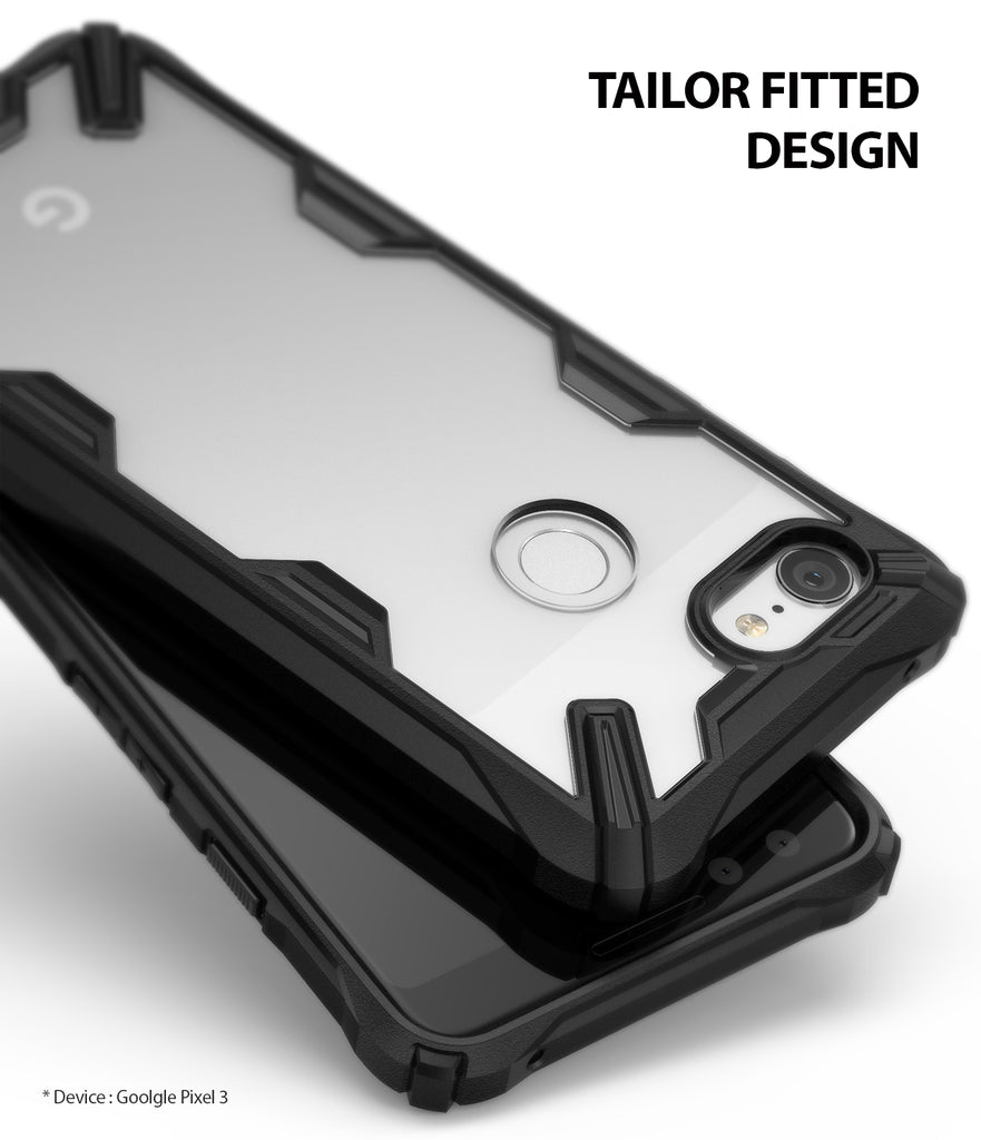 ringke fusion-x rugged heavy duty clear back case cover for google pixel 3 main case friendly