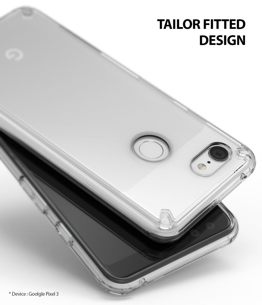 ringke fusion clear transparent protective back case cover for google pixel 3 main case friendly
