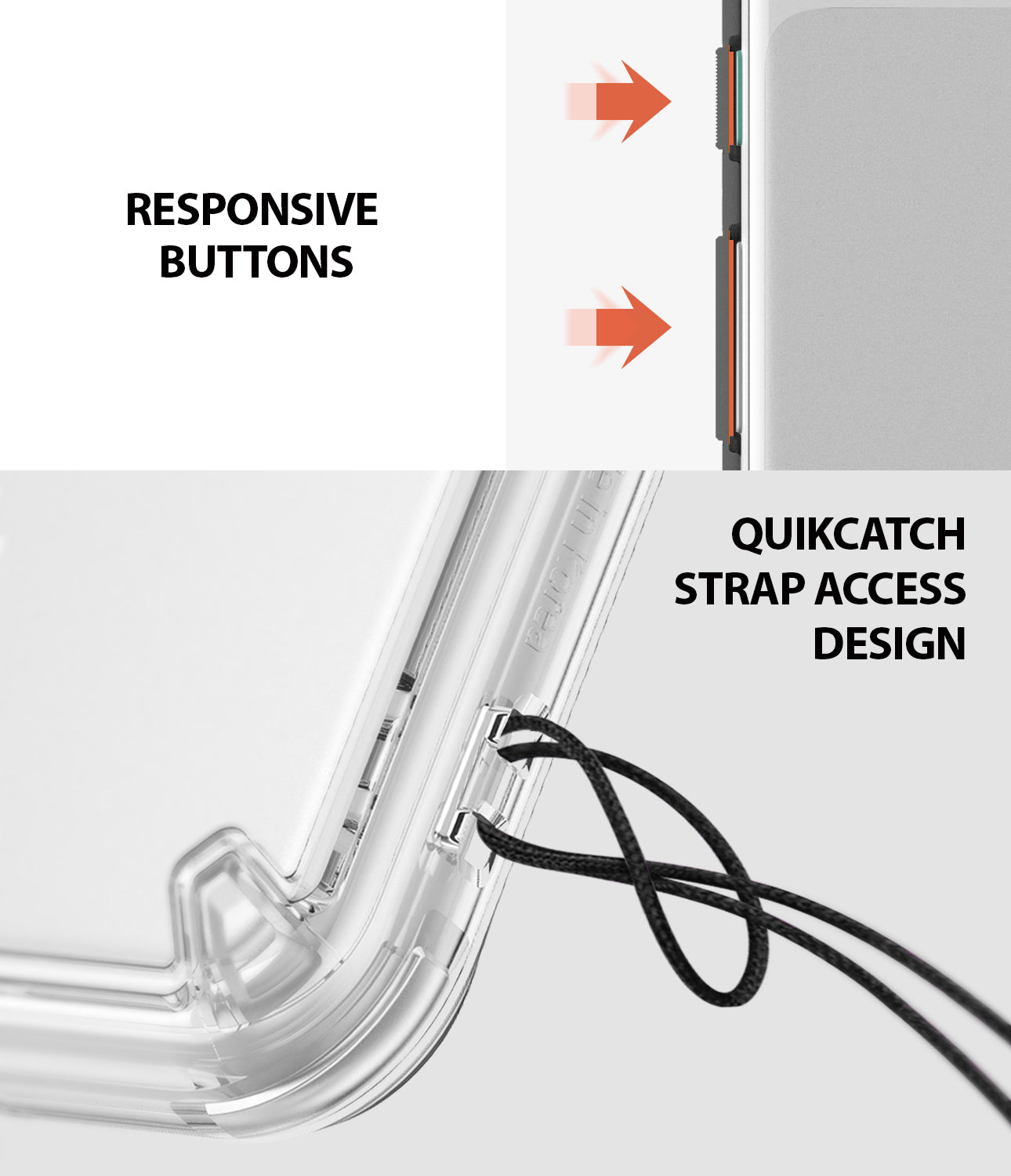 ringke fusion clear transparent protective back case cover for google pixel 3 main strap hole access