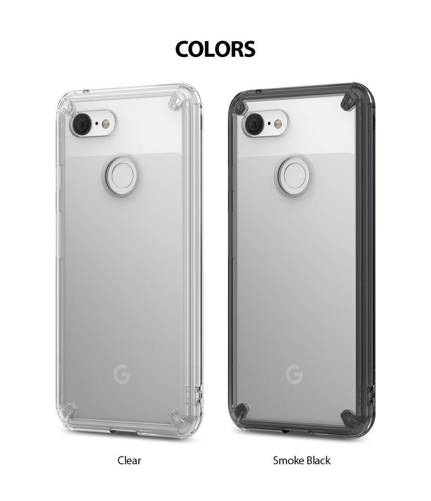 ringke fusion clear transparent protective back case cover for google pixel 3 main colors