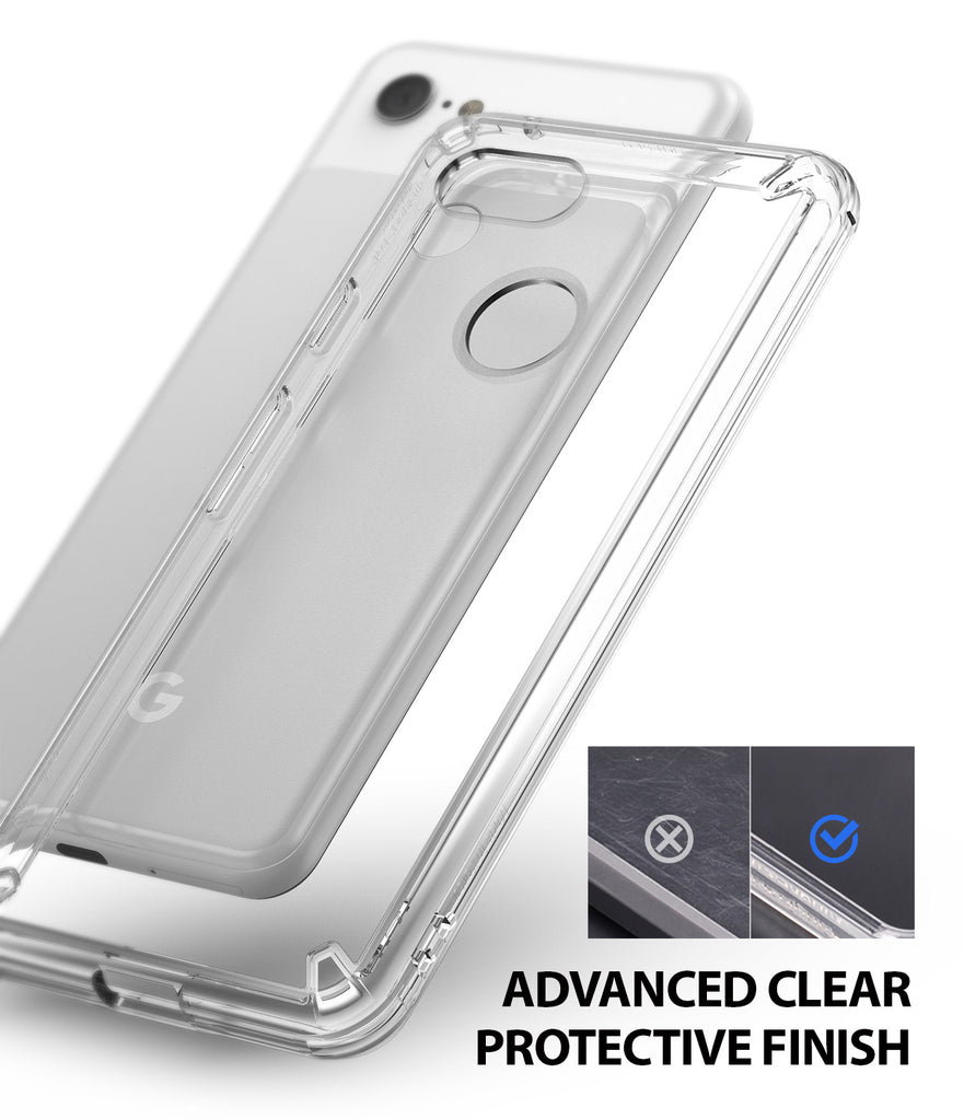 ringke fusion clear transparent protective back case cover for google pixel 3 xl main anti cling technology