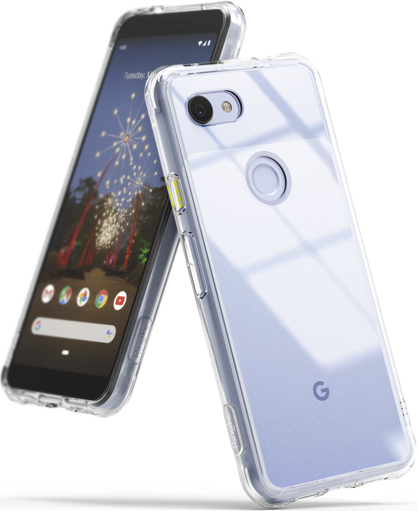 ringke fusion clear transparent protective back case cover for google pixel 3a main clear