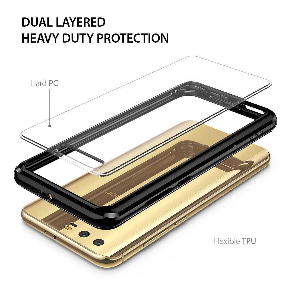 dual layered heavy duty protection - hard pc + flexible tpu