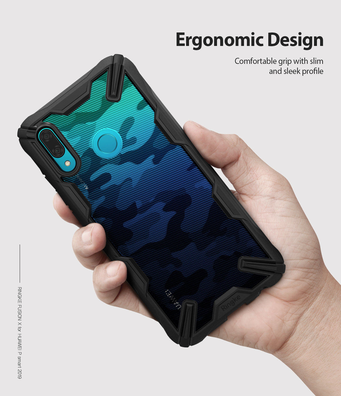 ergonomic hold - comfortable grip with slim and sleek profile