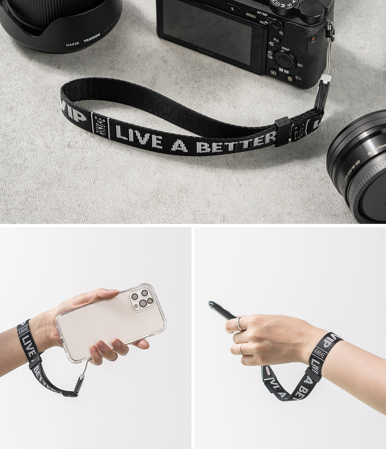 Hand Strap Lettering | Ticket Band 2 Black