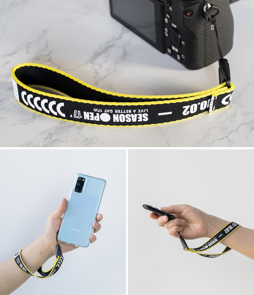 ringke lettering hand strap - ticket band black