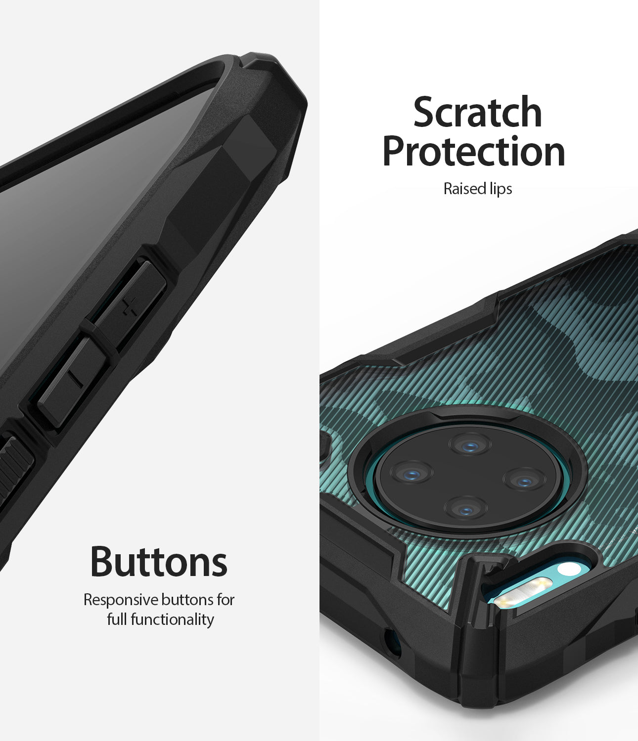 scratch resistant with responsive buttons