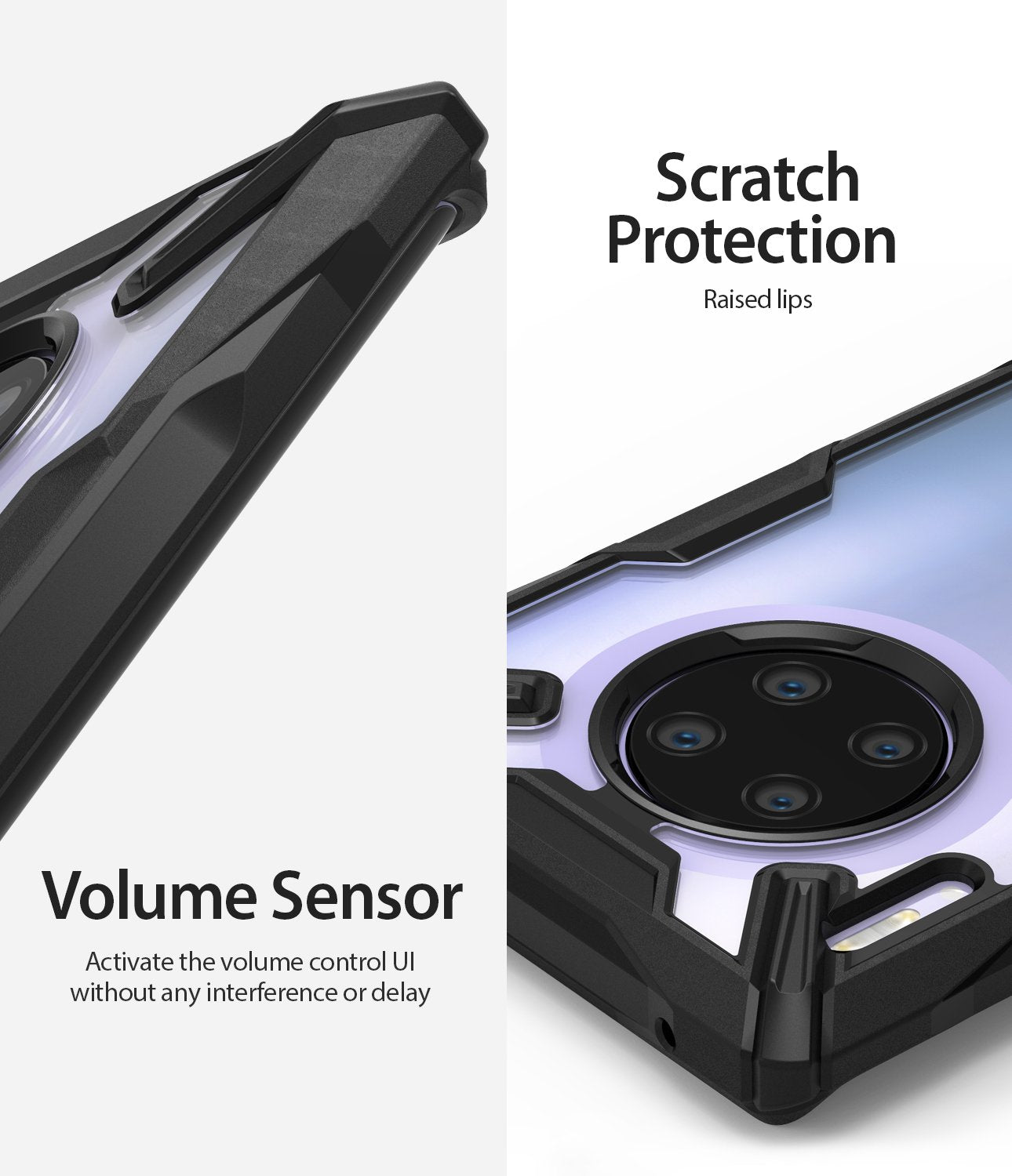 scratch resistant coating and responsive volume buttons