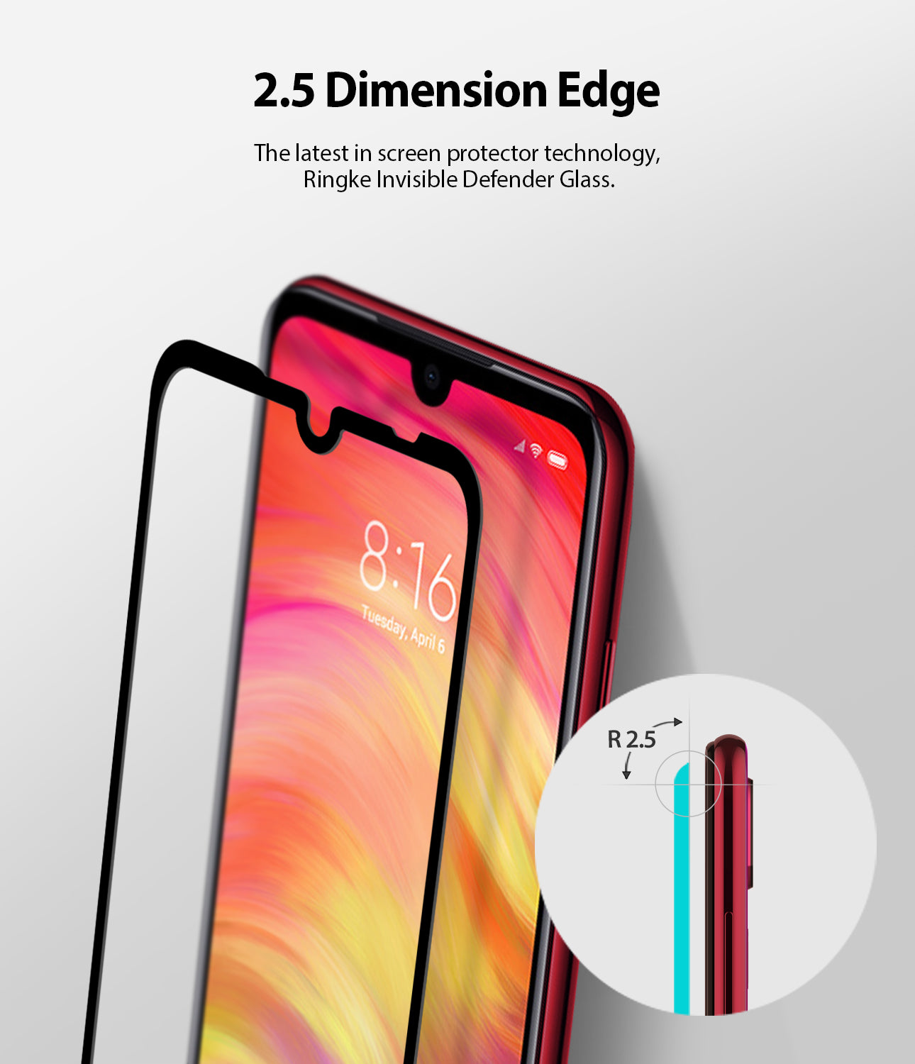 Xiaomi Redmi Note 7 / Note 7 Pro [ID GLASS] Full Coverage Screen Protector