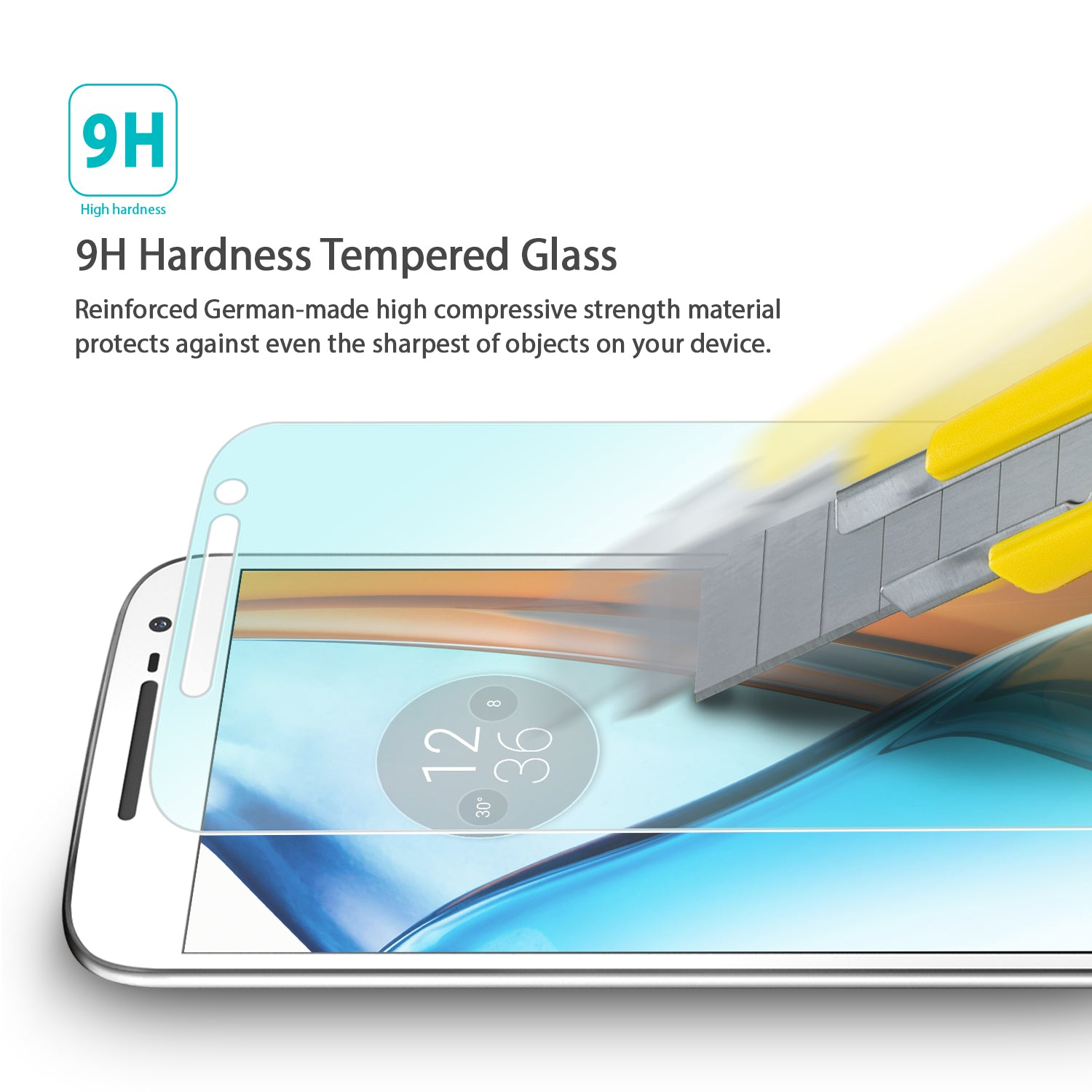 ringke invisible defender tempered glass screen protector for moto g4