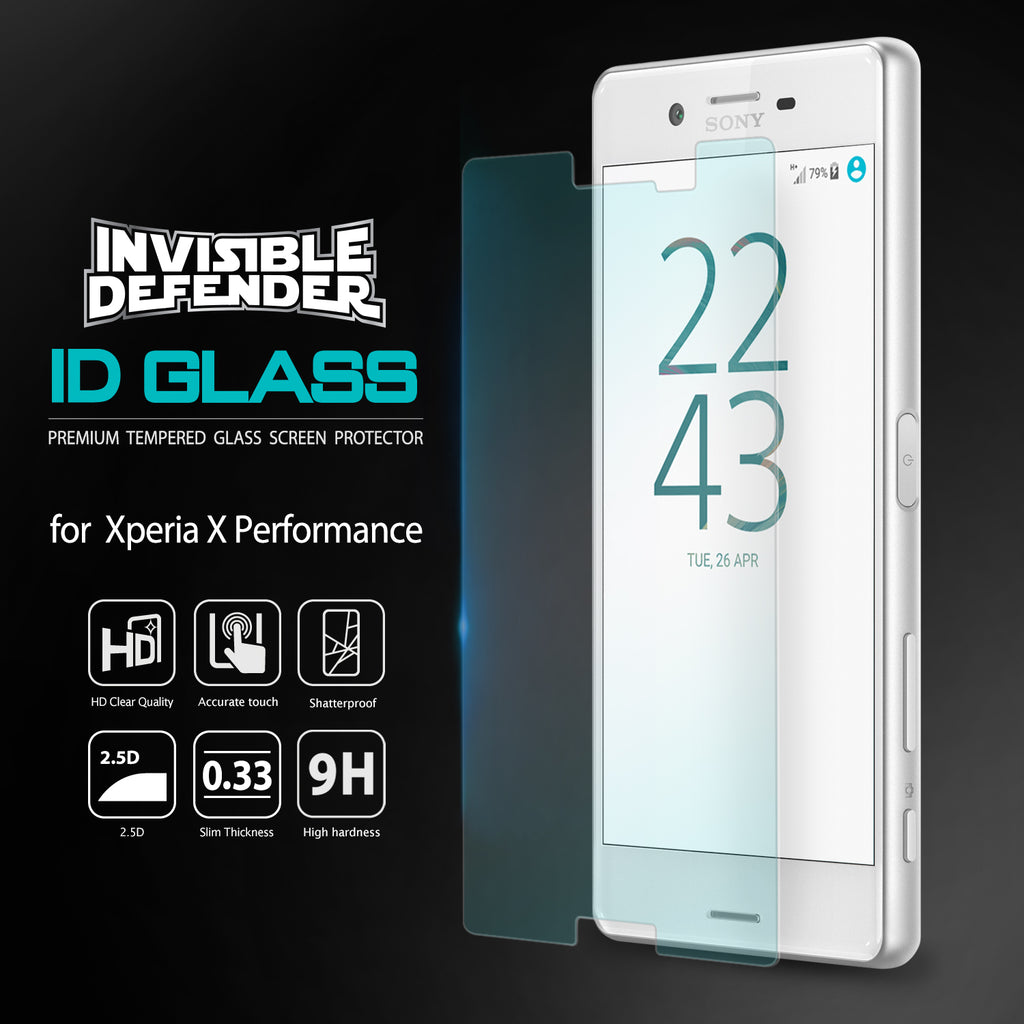 ringke invisible defender glass for xperia x performance