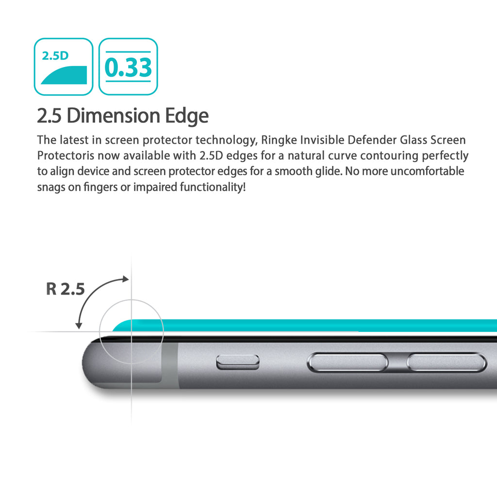 2.5 dimension edge with 0.33mm slim thickness